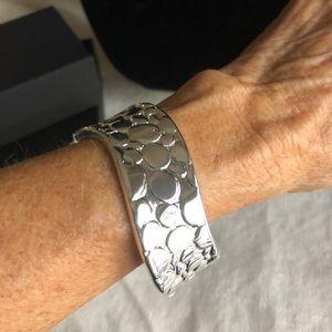 Jewelry - New Bangle Bracelet, Embossed Silvertone